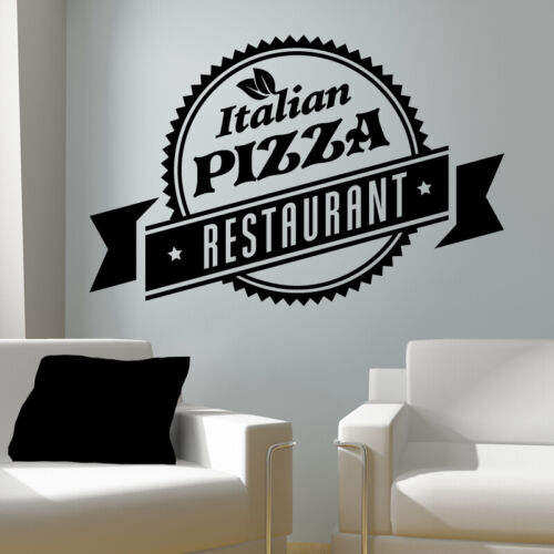 Pizza Takeaway wall sticker cafe decal restaurant fast food burger pz8