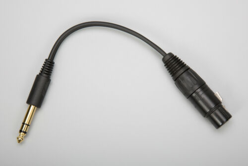 """Modified Stock HD 650 Sennheiser Cable 1//4/"""" to 4-Pin XLR Headphone Adapter"""