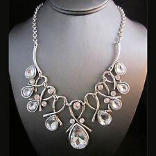 NEW * Brighton Bay Designer Silver Elven Droplet Weave Gem Chain Necklace