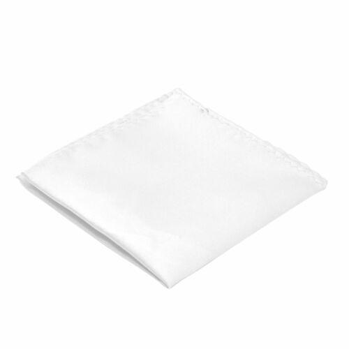 Blanc uni Pochette de costume Ecravate
