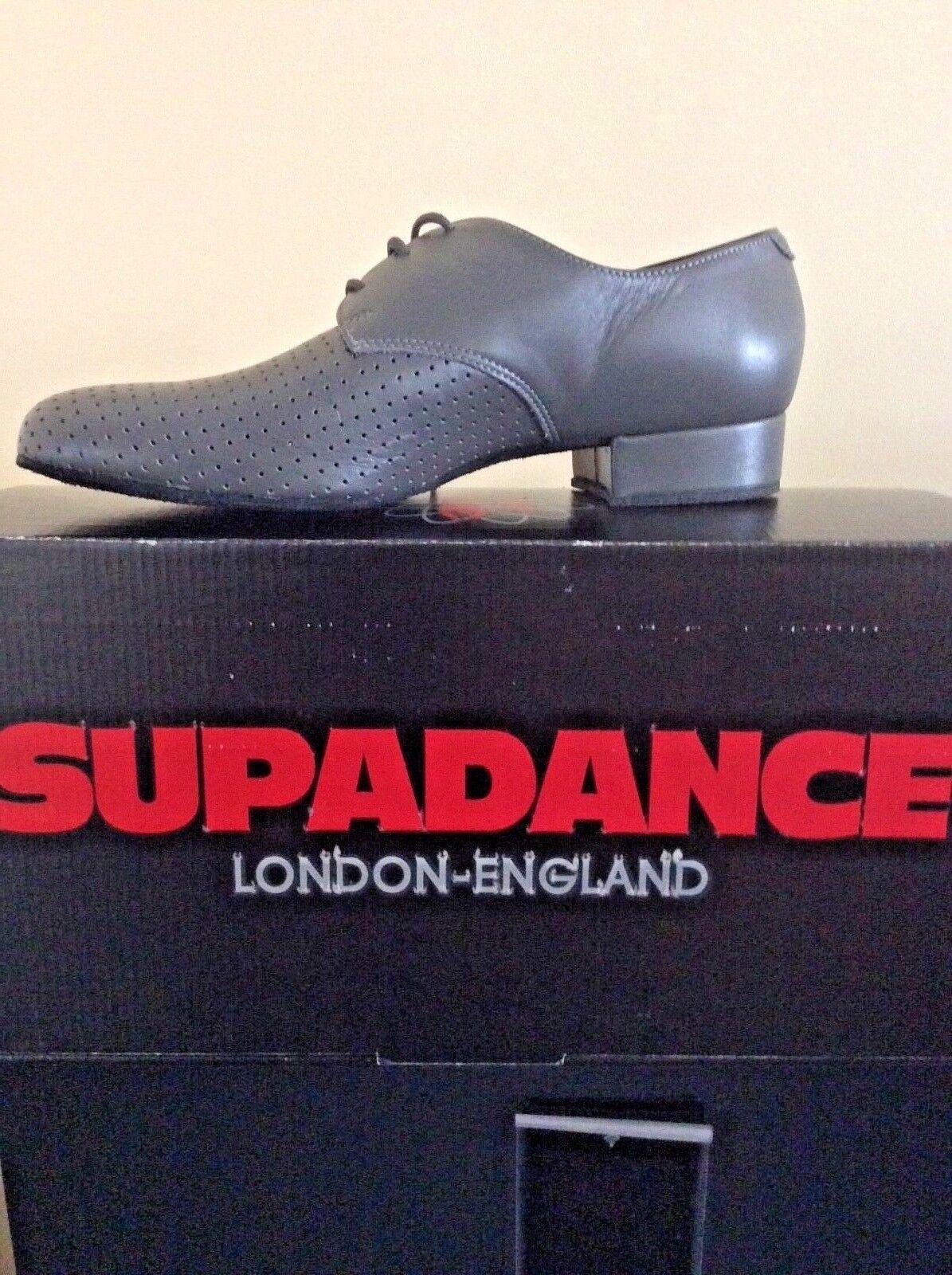 Supadance Boys Ballroom Shoe Grey Leather New In Box 5 .5