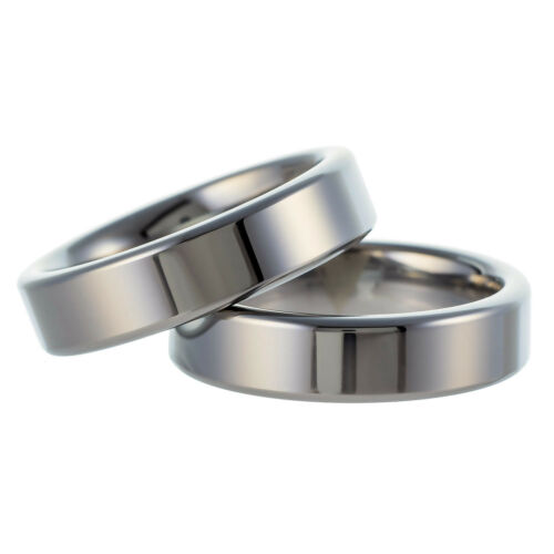 Tungsten Carbide Band Wedding Engagement Ring Silver Polished Comfort-Fit 6mm
