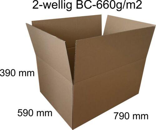 5 x 790x590x390 mm bc-660g DHL étuis carton d/'expédition postkarton 2-ondulés!