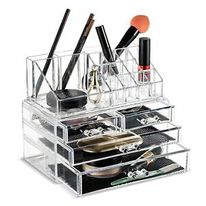 makeup organizers unique home acrylic jewelry and cosmetic organizer