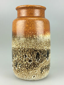 60er-70er-Jahre-Vase-Blumenvase-Keramik-Tischvase-Ceramic-Space-Age-Design-70s