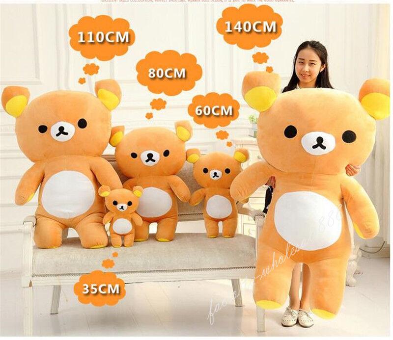 Giant Kawaii San-x Bear Toys Plush Rilakkuma Relax Soft Pillow Dolls Gifts 140CM