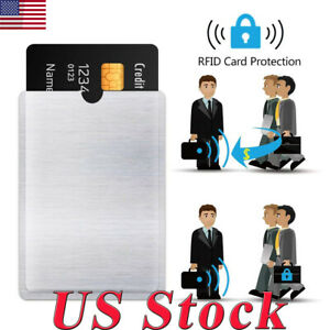 4-8-12-20-RFID-Blocking-Sleeve-Credit-Card-Protector-Bank-Holder-For-Wallets-US