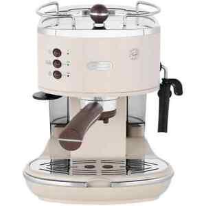 De'Longhi ECOV311.BG Icona Vintage Espresso Coffee Machine 15 bar Cream New