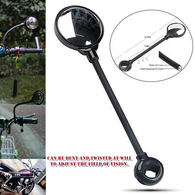 Adjustable Bicycle Rear View Mirror Cycling Bike Handlebar Wide Range Back  SU
