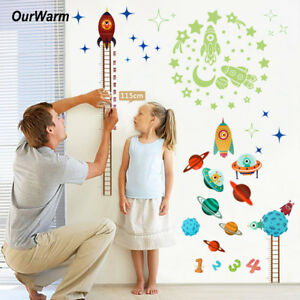 Kids-Baby-Planets-Space-Rocket-Height-Chart-Measure-Wall-Sticker-Room-Door-Decor