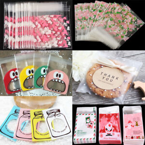100pcs-Self-Adhesive-Christmas-Cellophane-Party-Treat-Cookies-Candy-Gift-Bags