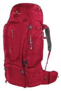 Zaino Viaggio Trekking Transalp 100 Rosso Ferrino - Dorso Regolabile In Altezza