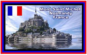 Mont Saint-Michel,Normandie,Frankreich Souvenir Kühlschrank-magnet Brandneu