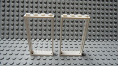 LEGO  White Door Frame 1 x 4 x 6 Lot of Two