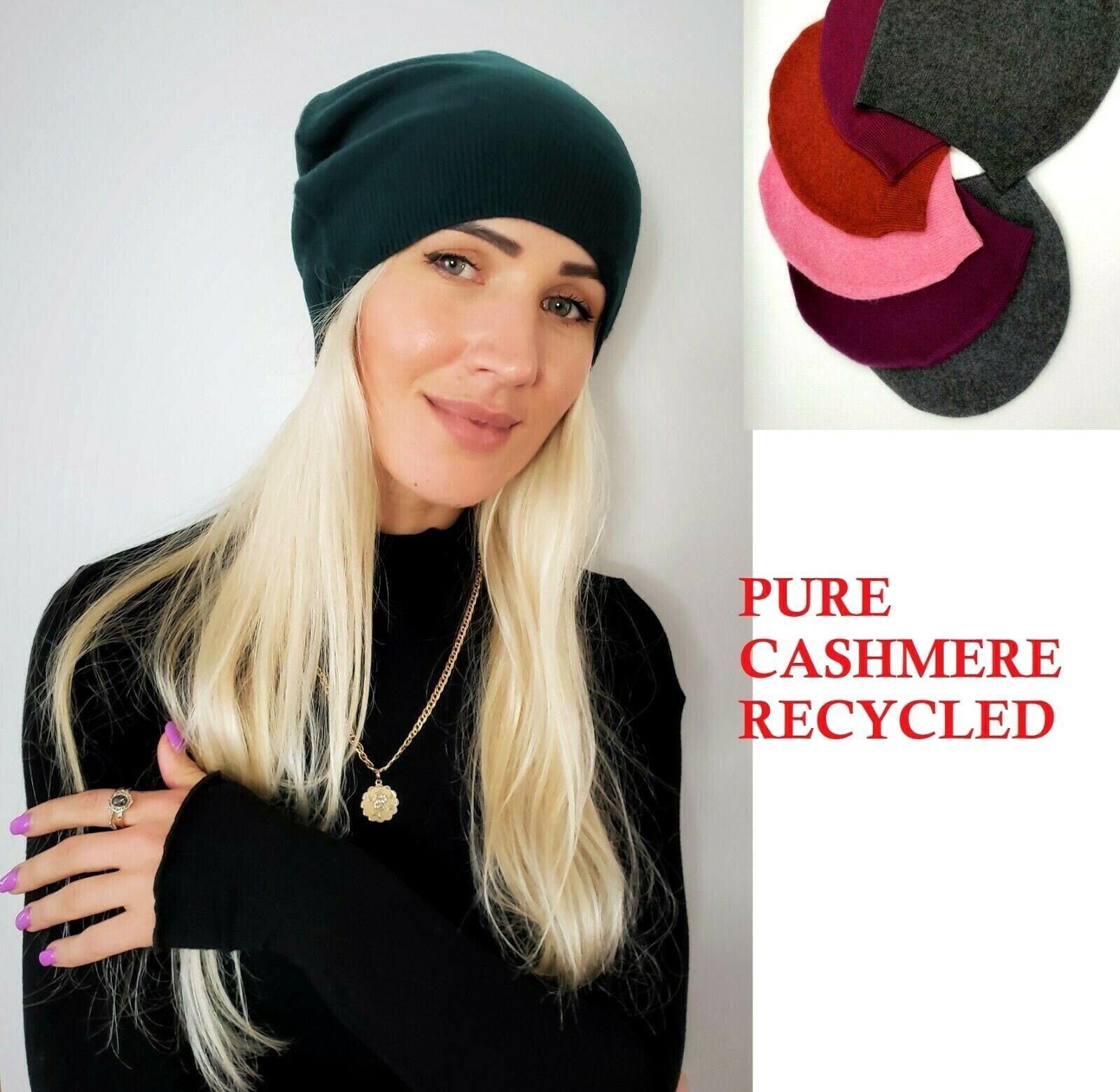 # 100% Pure Cashmere Sombrero Gorro de Lana Hombre Mujer Unisex Hecho a Mano A005