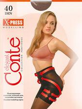 CONTE Shaping tights pantyhose extra strong no-run nude, black, tan L-XL 40den