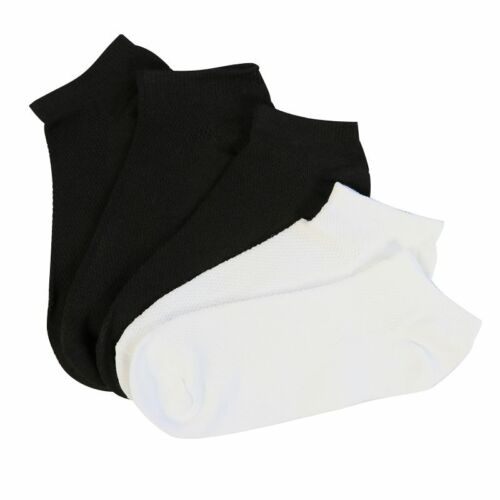 3-5 Pairs Mens Low Cut Cotton Comfort Work Crew Socks Athletic Sports Boat Socks