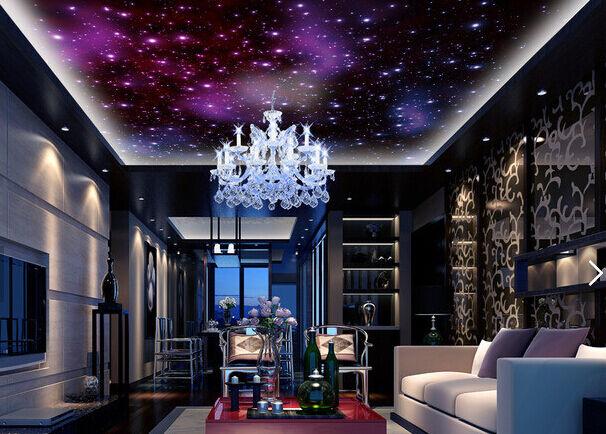 3D rot Star Sky 832 Ceiling WallPaper Murals Wall Print Decal Deco AJ WALLPAPER