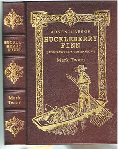 Huckleberry-Finn-by-Mark-Twain-Samuel-Clemens-1994-Leather-Easton-Press-Book
