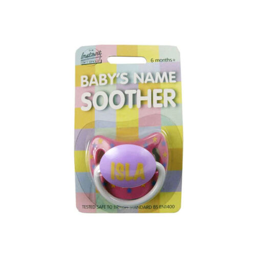 Soother//Pacifier Baby Girls Name Personalised Dummy names F-L multi listing