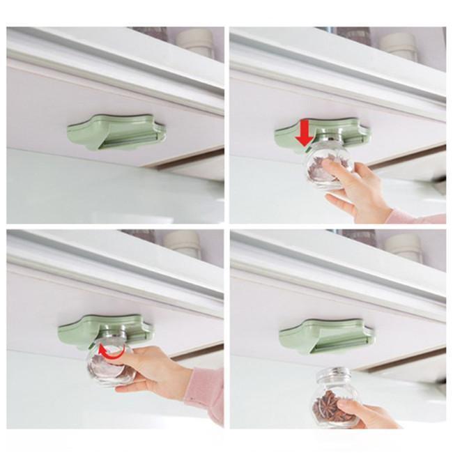 S@@ Under Cabinet Jar Opener Vise V Shaped Kitchen Counter Lid Bottle Cap