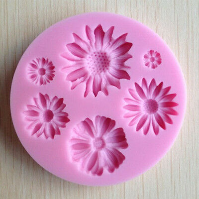 Flower Silicone Mold Fondant craft Cake Pastry Baking Decorating Tool Mould