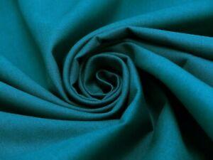 Baumwollstoff-Fahnentuch-unifarben-S-amp-W-Stoffe-Petrol-150-cm