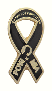 POW-MIA Prisoners Of War - Missing In Action Support Ribbon Pin Badge LAST FEW
