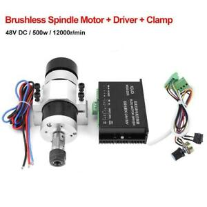 New-ER16-DC48V-500W-High-Speed-Air-Cooling-Brushless-Spindle-Motor-Driver-Clamp