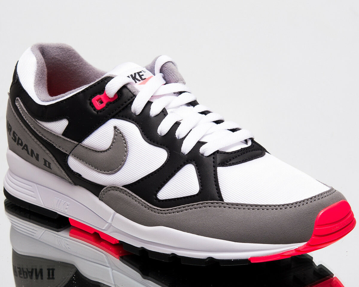 Nike Air Span II Mens New Sneakers Men Black Solar Red White Shoes AH8047-005