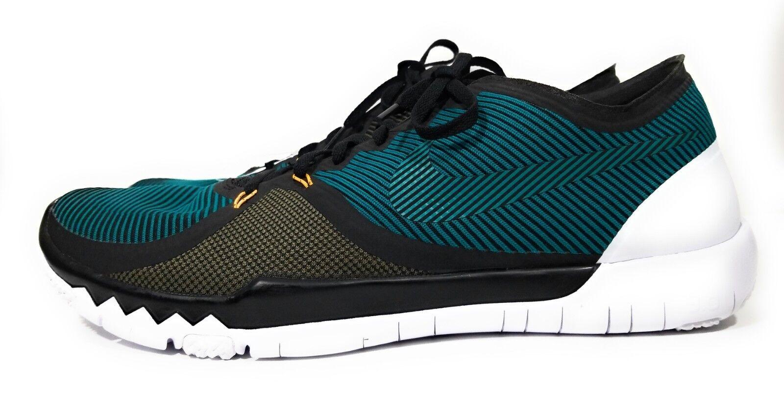 Nike Free Trainer 3.0 V4 Mens Running shoes Green Black Size 14