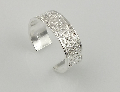 Silver Vintage Toe Ring Adjustable Band Womens Foot Beach Body Jewellery Jewelry