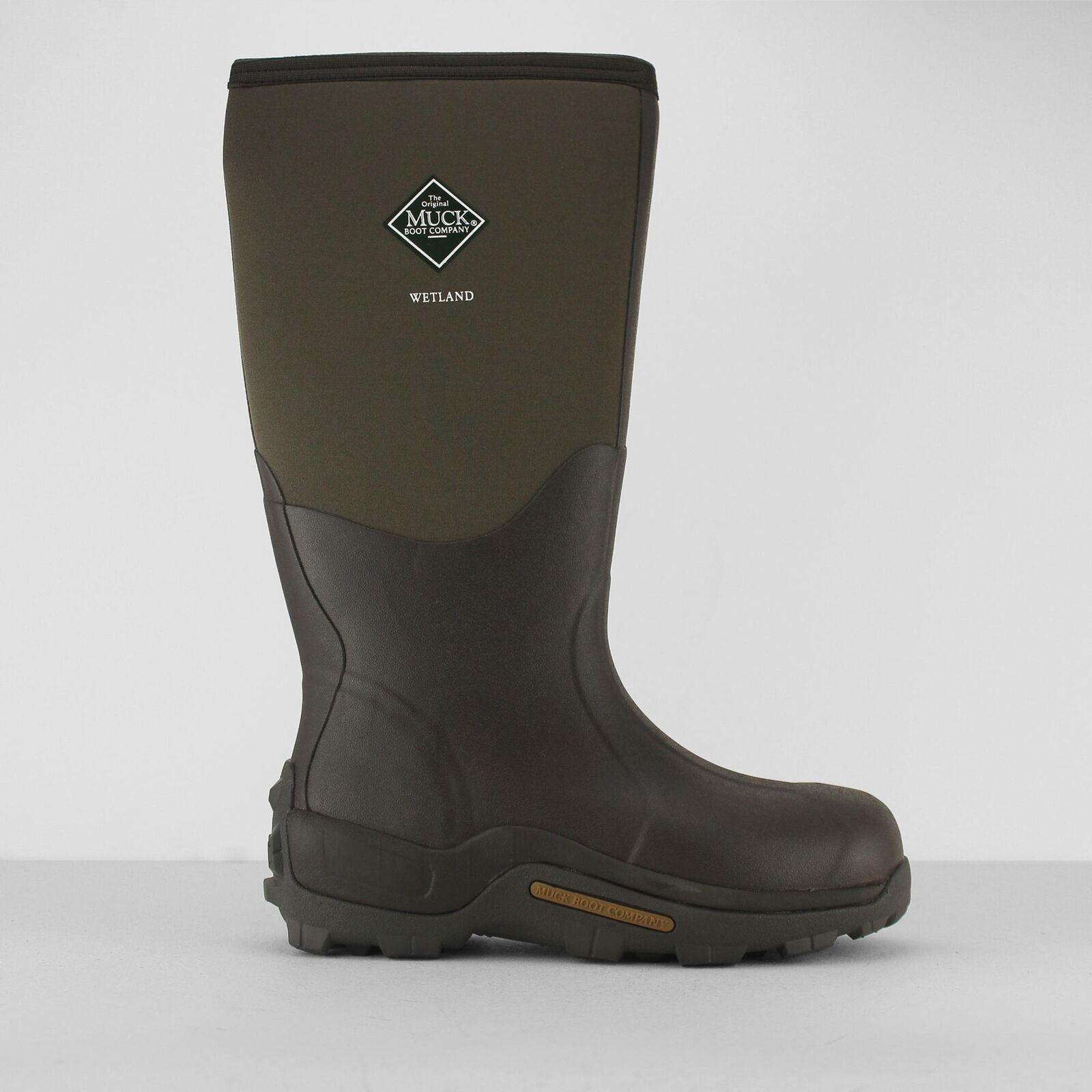 Muck ® botas humedal Unisex Para Hombre señoras Wellington impermeable botas corteza marrón
