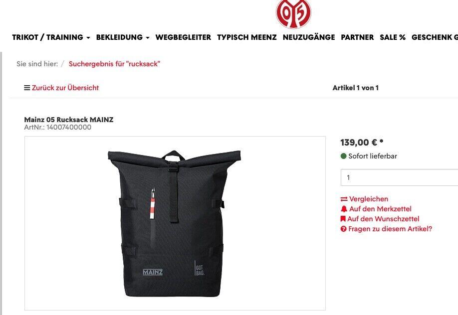 Mainz 05 Rucksack  Laptop Roll-Top BAG UNI