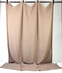 Vtg-Speckled-Brown-Wool-Jersey-Knit-Sewing-Fabric-Clothing-Fashion-2-x-3-Yards