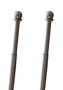 Gardinenstange-Scheibenstange-Fenster-Vitragestange-Kugel-Nickel-Laenge-40-100-cm