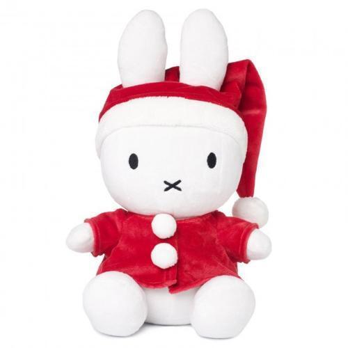 Miffy als Weihnachtsmann Plüschfigur Kuscheltier Stofftier Weihnachten 33cm