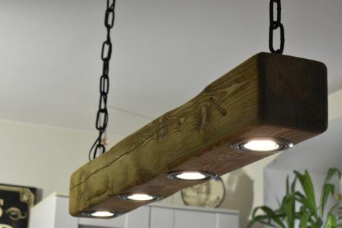 Rustikale Hängelampe Deckenlampe  4x LED Handgefertigt*  Eiche Hell