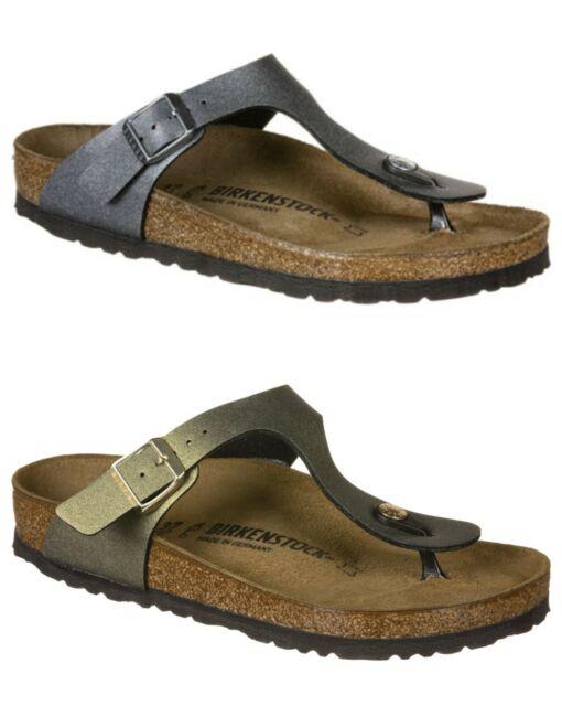 Birkenstock Gizeh Ladies Regular Fit Toe Post Sandals in Icy Metallic Colours