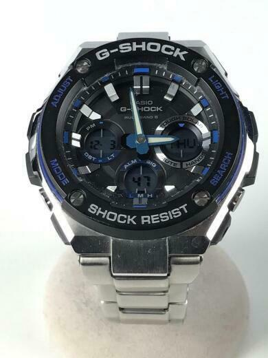 CASIO Solar Digital and Analog Stainless Blu Slv Wrist watch GST-W100D-1A2JF