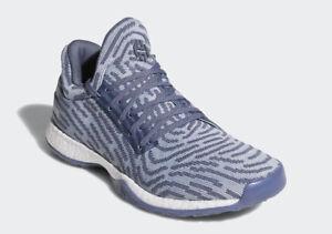 Details about Adidas Harden Vol 1 LS PK sz 14 AC8408 Lifestyle PrimeKnit Raw Steel Boost James