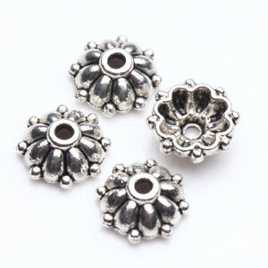 Practical-100Pcs-Tibetan-Silver-Flower-Shape-Making-Bead-Caps-8X3mm-Finding-DIY