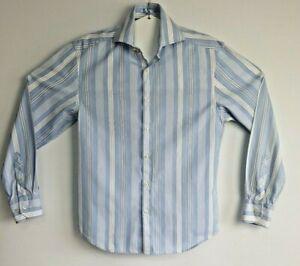 Next-Luxury-Men-039-s-Stripe-Long-Sleeve-Shirt-Size-S