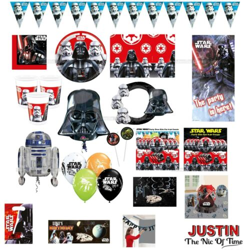 STAR WARS Birthday Party Supplies Boys Range Childrens Tableware /& Decorations