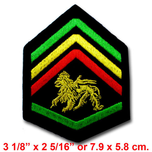 Jamaica Jah Army Division Patch Iron On Vest Rasta Biker Military Infantry Arm