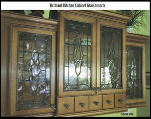 Details about Brilliant Kitchen Cabinet Glass Door Inserts SGDK 199