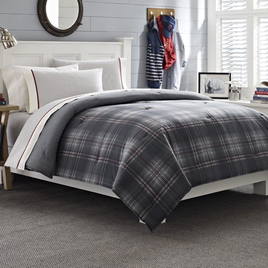 NAUTICA   GROVEDALE  PLAID 4 PC   TWIN  TWIN XL  COMFORTER SHEET SET