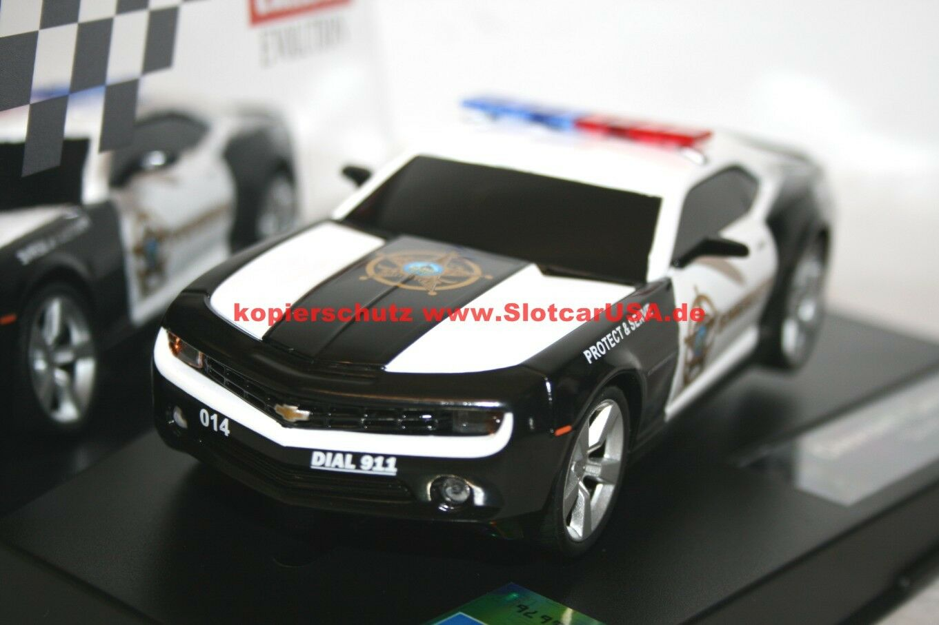 Carrera Evolution 27523 27523 27523 Chevrolet Camaro Sheriff Polizei NEU Mit Blaulicht USA  | Elegantes Aussehen  f66efd