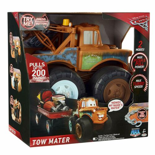 Disney Pixar Cars 3 Tow Mater Truck Push and Pull Up To 200 Pounds!