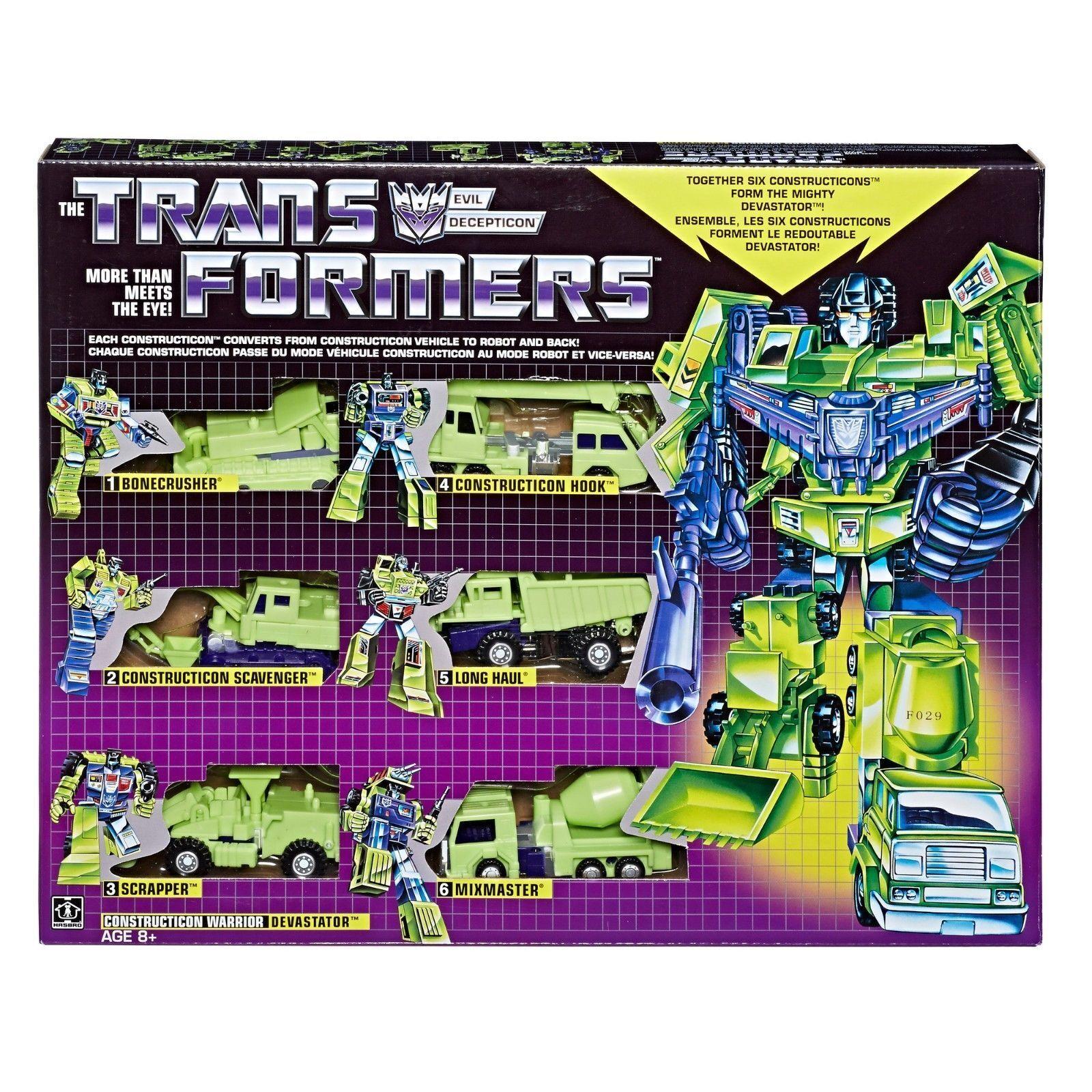 Transformers Vintage G1 Constructicon Devastator reedición 2018 producto Exclusivo De Walmart